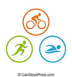 symbolika, triathlon, komplet