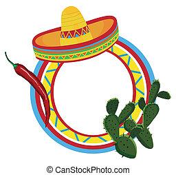 symbolika, ułożyć, meksykanin