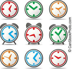 symbolika, wektor, zegar