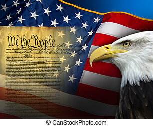 symbolika, zjednoczony, -, stany, patriotyczny, ameryka