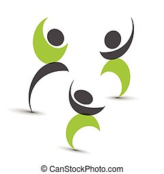 symbolika, związany, ludzie