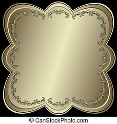 symetryczny, ułożyć, metaliczny, (vector), srebrzysty