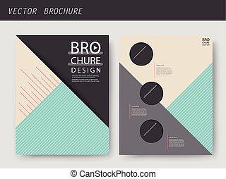 szablon, geometryczny, nowoczesny, broszura, projektować