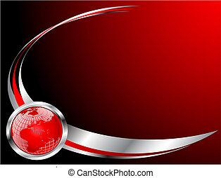 szablon, handlowa karta, czerwony