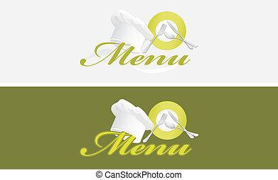 szablony, menu, dwa