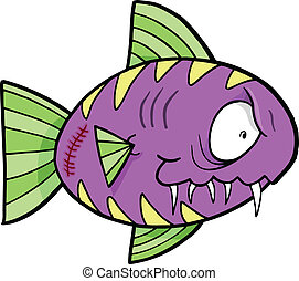 szalony, pomylony, fish