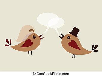 szambelan królewski, ptak, żona