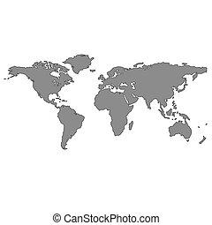 szary, światowa mapa