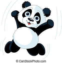 szczęśliwy, panda