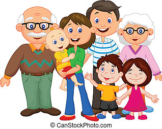 szczęśliwy, rysunek, rodzina