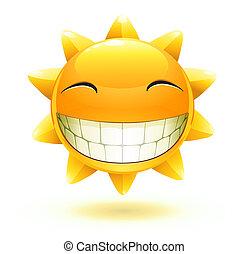 szczęśliwy, słońce, lato