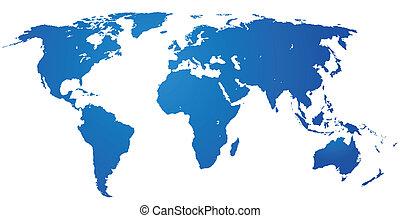 szczegółowy, świat, map.