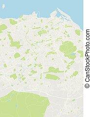 szczegółowy, edinburgh, wektor, farbować mapę