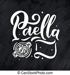 szczegółowy, rys, elementy, jadło, menu, nazwa, styl, ilustracja, odręczny, różny, hiszpański, handdrawn, freehand, lettering., rysunek, design.