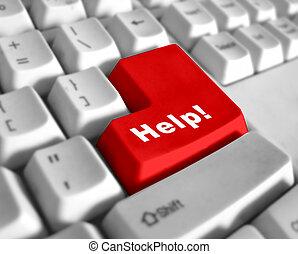 szczególny, klawiatura, -, pomoc