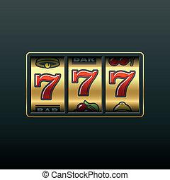 szczelina, 777., machine., zwycięski