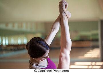 szczelnie-do góry, pointe, feet, stary, młody, balerina, obuwie