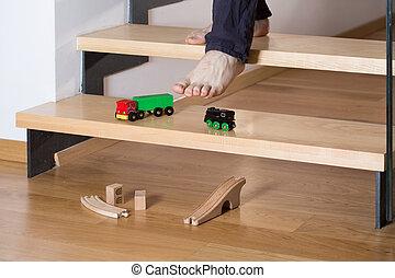 szczelnie-do góry, schody, zabawki
