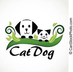 szczeniaki, kot, pies, logo