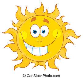 szczerzenie zębów, słońce