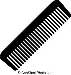 szczotka włosa, ikona