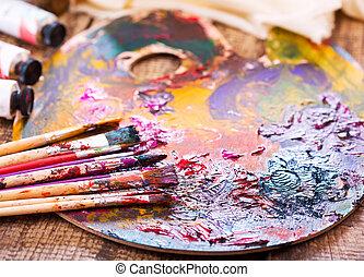szczotki, malować
