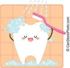 szczotkowanie, itself, ząb