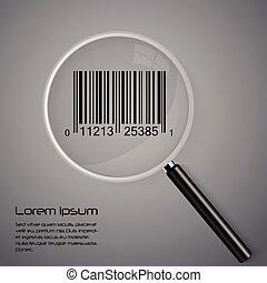 szkło, barcode, powiększający