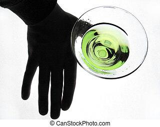 szkło, dzierżawa ręka