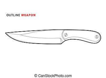 szkic, nóż