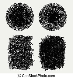 szkice, grunge, ilustracja, ręka, wektor, wylęgając, pociągnięty, szorstki, texture.