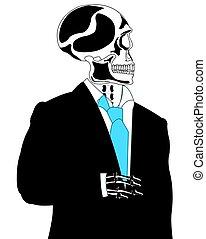 szkielet, garnitur