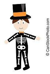 szkielet, kostium
