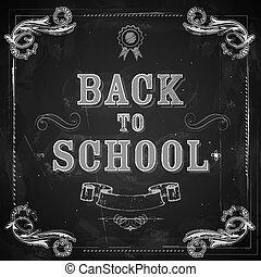 szkoła, chalkboard, wstecz