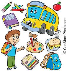 szkoła, obiekty, zbiór