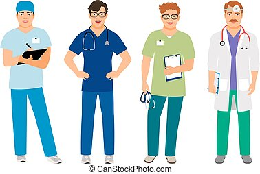 szpital, męski doktor, garnitur