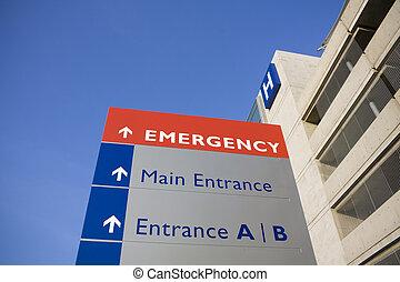 szpital, nowoczesny, nagły wypadek znaczą