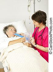 szpital, oddechowy, terapia