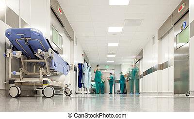 szpital, operacja, korytarz