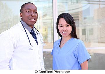 szpital, rozmaity, medyczny zaprzęg