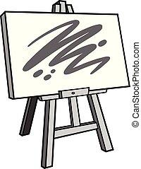 sztaluga, sztuka, ilustracja