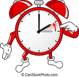 sztandar, czas, alarm, zmiana, zegar