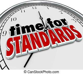 sztandary, probierczy, ocena, czasowy zegar
