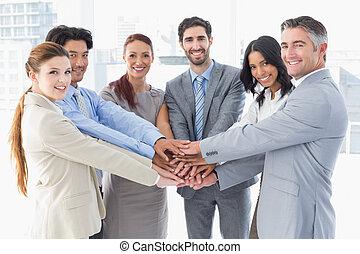 sztaplując, drużyna, siła robocza, ich, handlowy