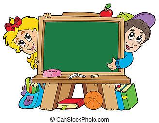 sztubacy, chalkboard, dwa