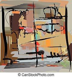 sztuka, abstrakcyjny, nowoczesne malarstwo