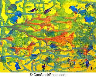 sztuka, barwny, barwiony, abstrakcyjny, papier, tło