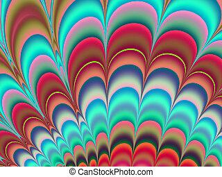 sztuka, barwny, tło, fractal