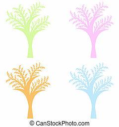 sztuka, drzewa