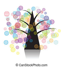 sztuka, drzewo, kaprys